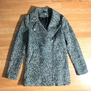 Divided H&M Speckled Zippered Coat